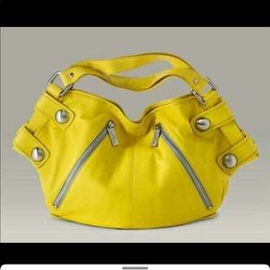 KOOBA yellow leather tote  over the shoulder bag